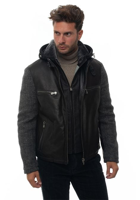 Leather harrington jacket Latini | -276790253 | 289018I-2651100