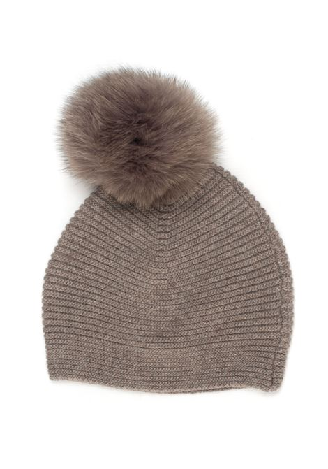 Rib hat with fur Maria Bellentani | 5032318 | 6217-700376