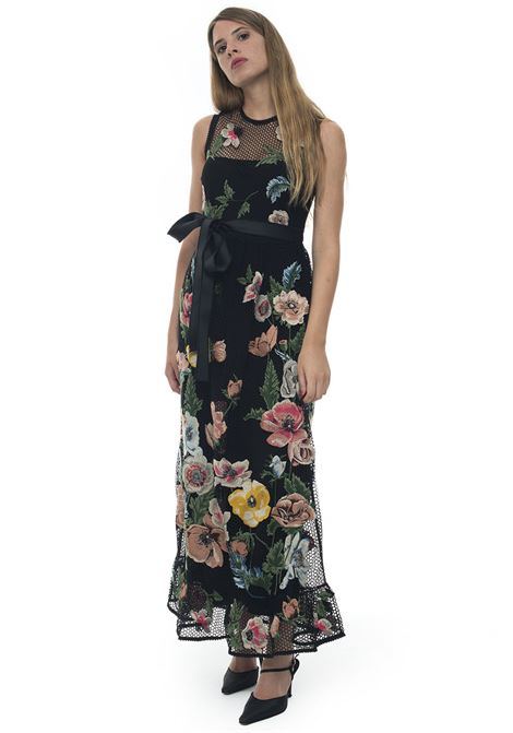Round-neck maxi dress with armhole Red Valentino | 130000002 | SR3VA02Y-4D3N78