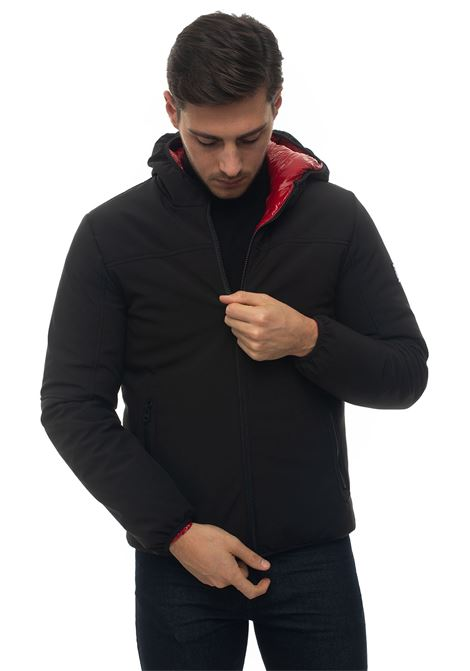 EVO5 hooded harrington jacket Refrigue | -276790253 | EVO5-R57635EGU2MBLACKBRIGHT RED