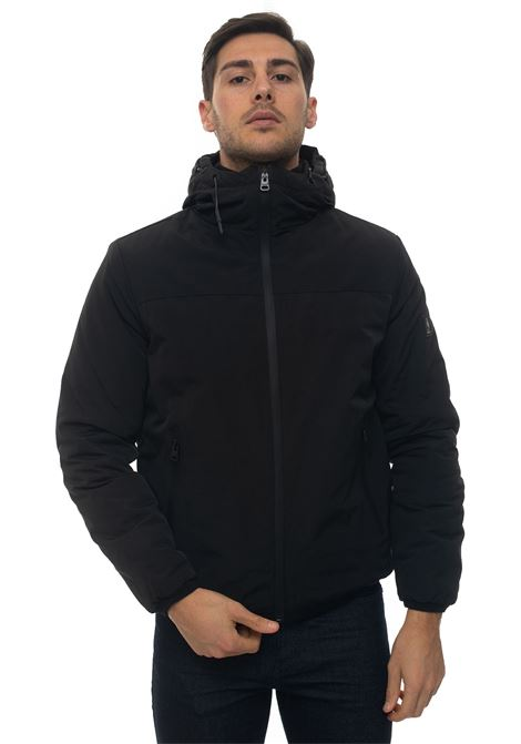 STABB hooded harrington jacket Refrigue | -276790253 | STABB-R57655ORU2MBLACK