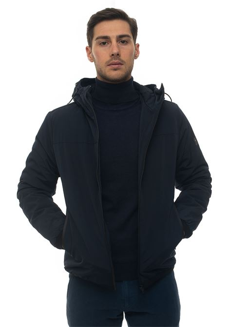 STABB hooded harrington jacket Refrigue | -276790253 | STABB-R57655ORU2MDARK BLUE