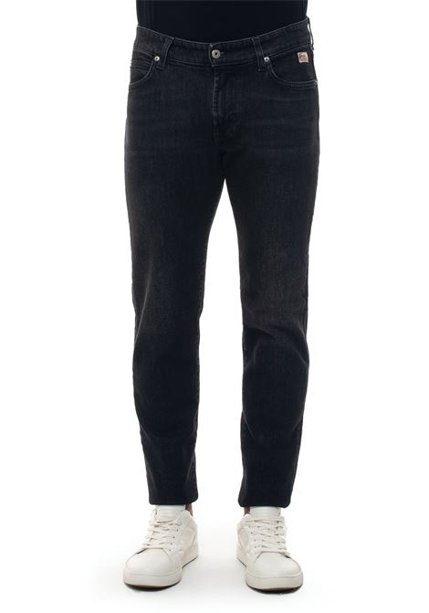 517-MAN PISTONE 5 pocket denim Jeans Roy Rogers | 24 | 517-MAN DENIM BLACK ELASTPISTONE