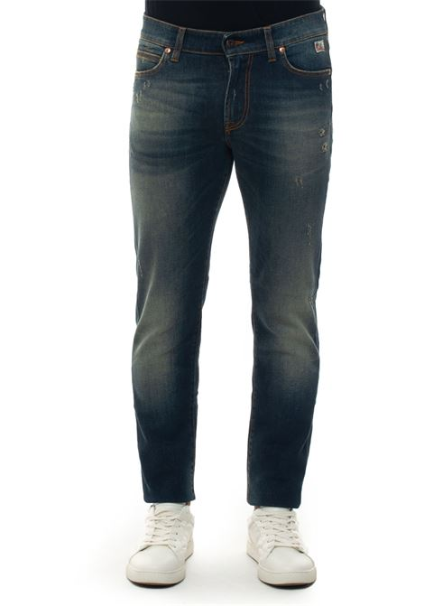 517-MAN VEGA 5 pocket Jeans with cuttings Roy Rogers | 24 | 517-MAN DENIM ELASTVEGA