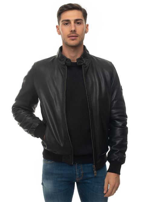 NEW BARRACUDA PADDED  leather harrington jacket Roy Rogers | -276790253 | NEW BARRACUDA PADDED109
