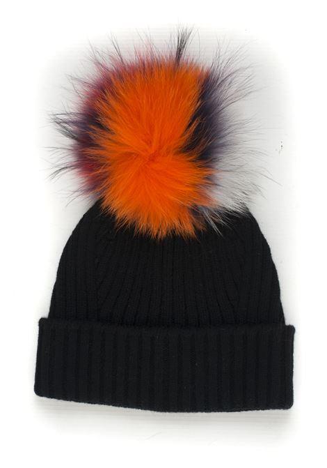 Cappello in maglia con pon-pon Vanisé | 5032318 | V41605NERO