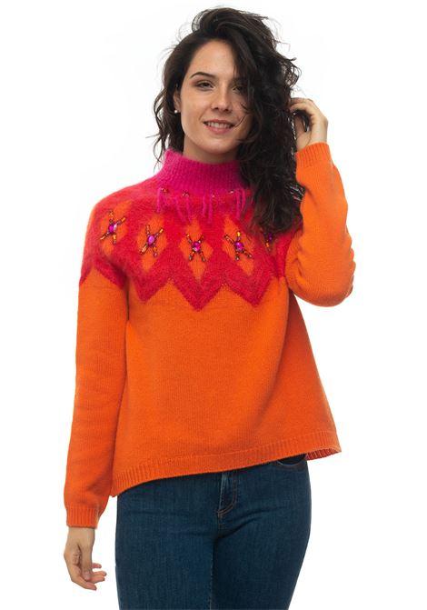 Cashmere pullover Vanisé | 7 | V44631ARANCIO FLASH