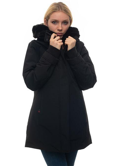 W'S BOULDER PARKA FF hooded jacket Woolrich | 20000057 | WWCPS2803-UT0001BLK