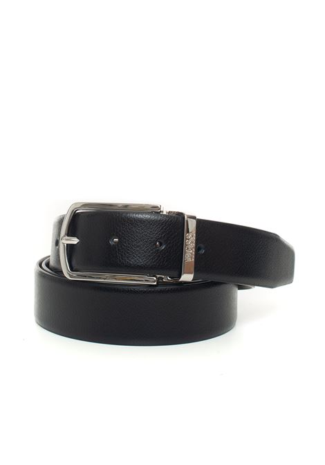 Belt in bicolored leather BOSS | 20000041 | OFISY-50440768002