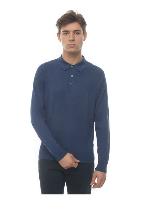 Polo shirt long sleeves, Brooks Brothers | 2 | 172421MED BLU