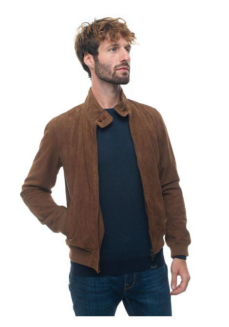 Leather harrington jacket Brooksfield   -276790253   207A-F006249