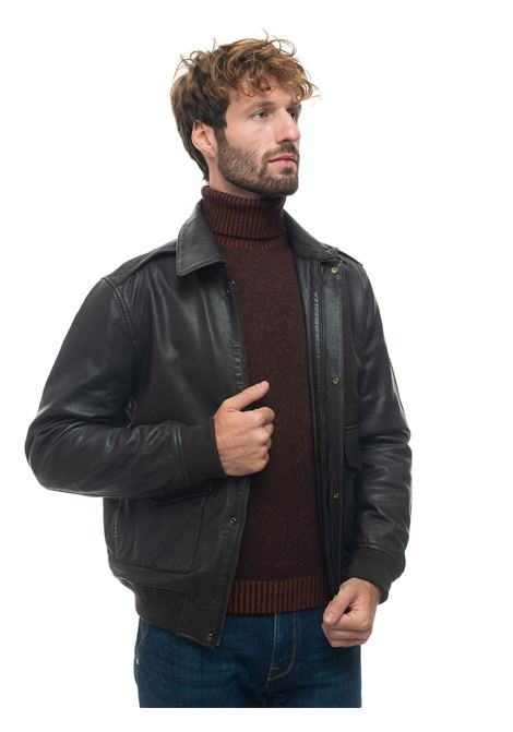 Leather harrington jacket Brooksfield | -276790253 | 207A-I001723