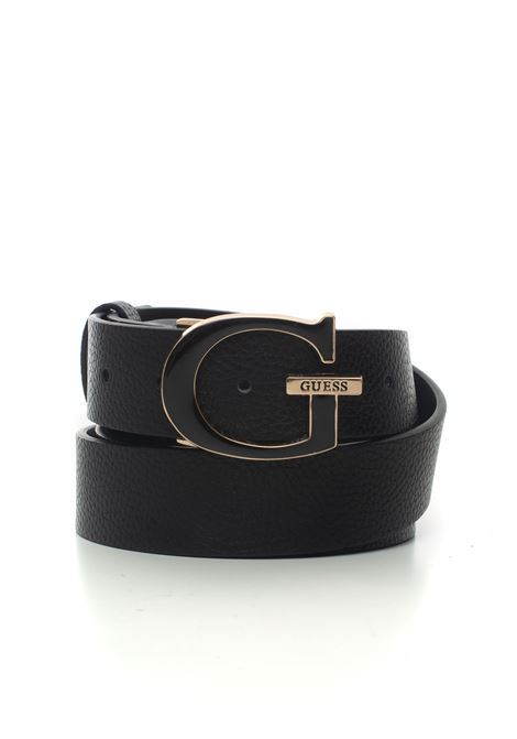 Becca buckle belt with logo detail Guess | 20000041 | BW7337-VIN35BLA