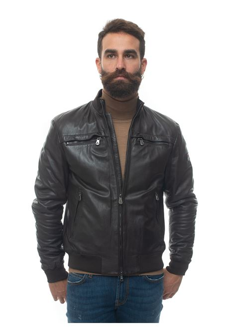 SANDSLEATHERWS04 leather harrington jacket Peuterey | -276790253 | SANDSLEATHERWS04-PEU3770-99011855961