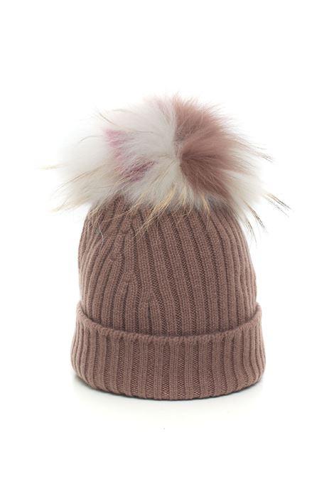 Cappello in maglia con pon-pon Vanisé | 5032318 | V61655CASTAGNA