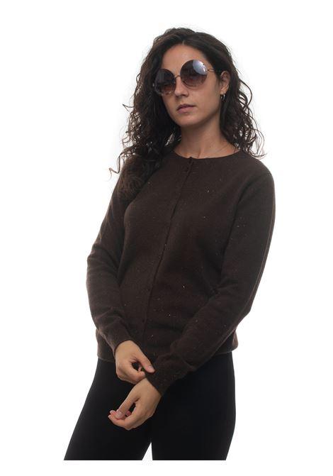 Cardigan in lana Vanisé | 5032300 | V63753CAFFÈ