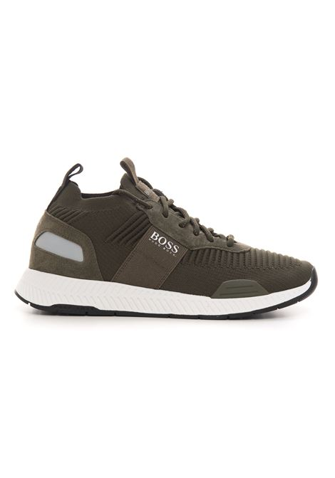 Sneakers con rialzo allacciata BOSS | 5032317 | TITANIUM_RUNN_KNST1-50452034307