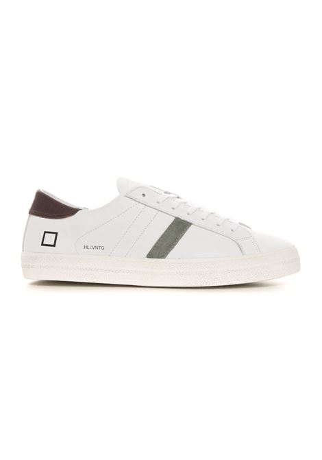 Sneakers in pelle con lacci HILL LOW VINTAGE CALF WHITE-T.MORO / D.A.T.E. D.A.T.E. | 5032317 | M351-HL-VCWM