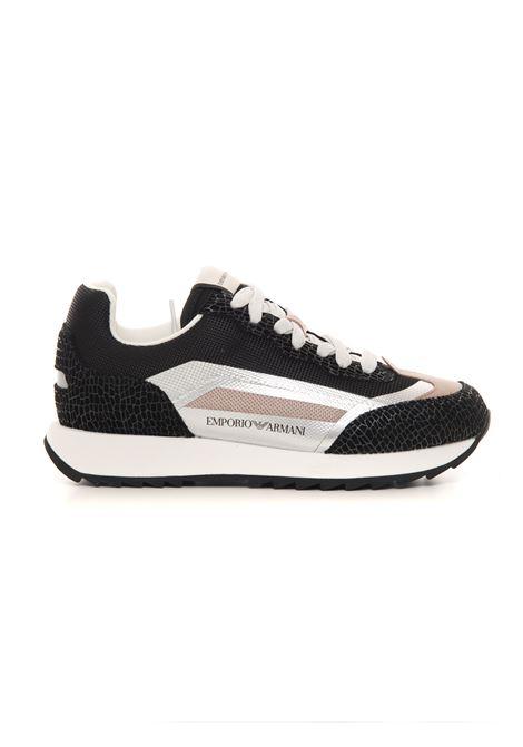 Sneakers in pelle con lacci Emporio Armani | 5032317 | X3X134-XN032Q499