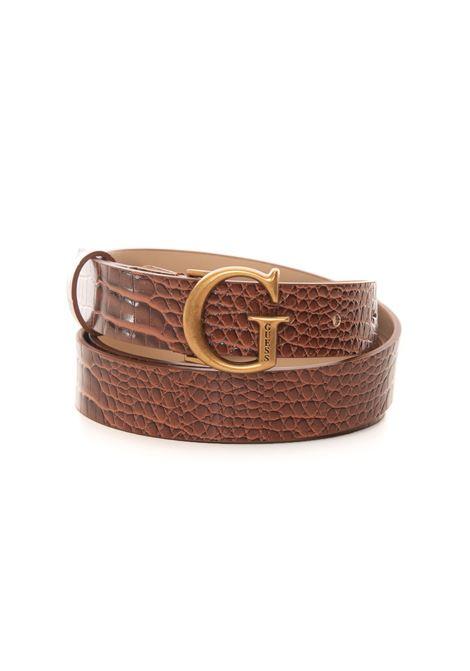 Raffie buckle belt with logo detail Guess | 20000041 | BW7495-VIN25COG
