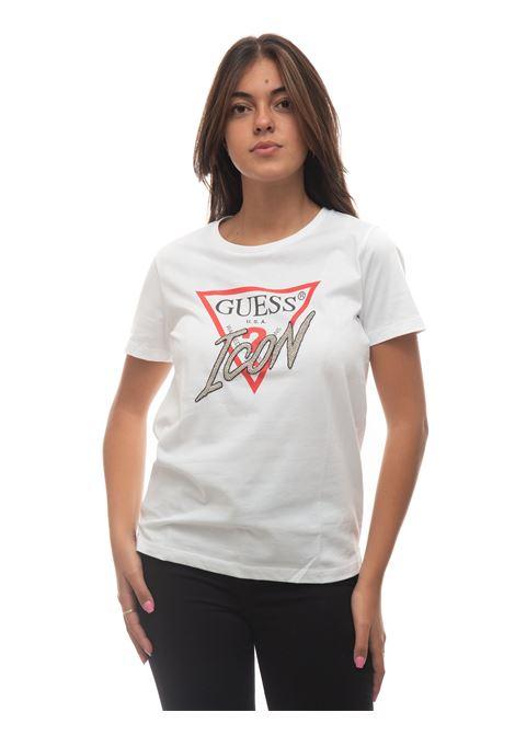 T-SHIRT LOGO ICON T-shirt Guess   8   W1YI0Y-I3Z00G011