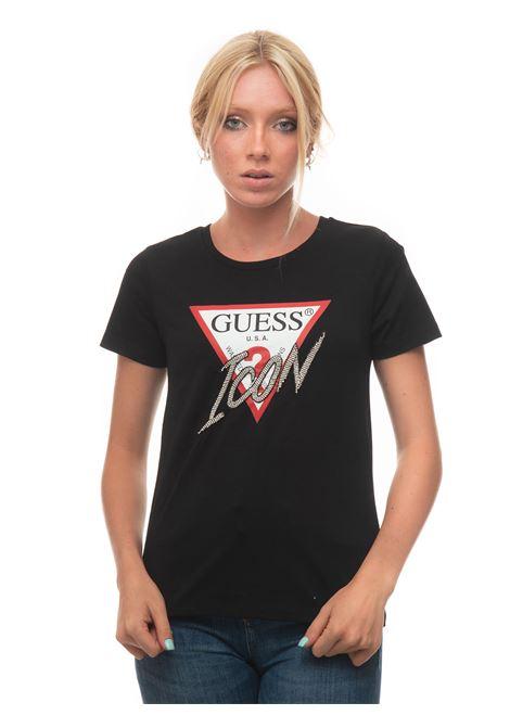 T-SHIRT LOGO ICON T-shirt Guess   8   W1YI0Y-I3Z00JBLK