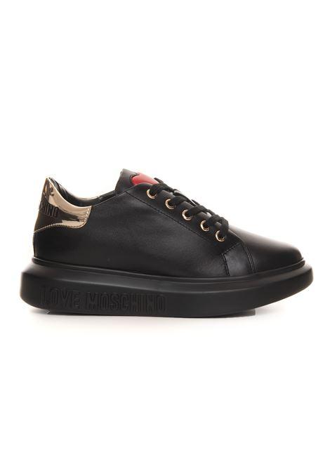 Sneakers in pelle con lacci Love Moschino | 5032317 | JA15284G0DIA600A