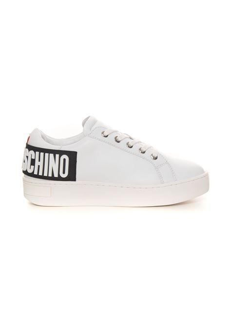 Sneakers in pelle con lacci Love Moschino | 5032317 | JA15573G0DIA0100