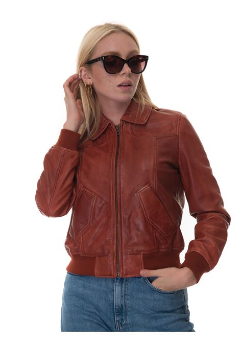 ANITA Short jacket Roy Rogers | -276790253 | A21RED349C951XXXX060-BROWN