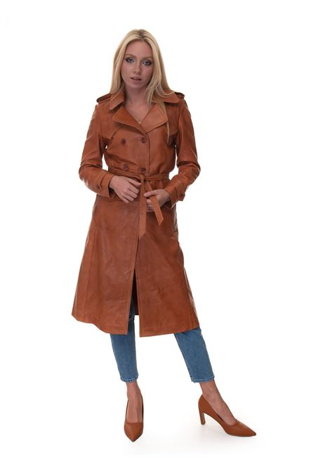 TRENCH RE-ISSUE IN PELLE leather dust coat Roy Rogers | 20 | A21RED350CB40XXXX889-WHISKY