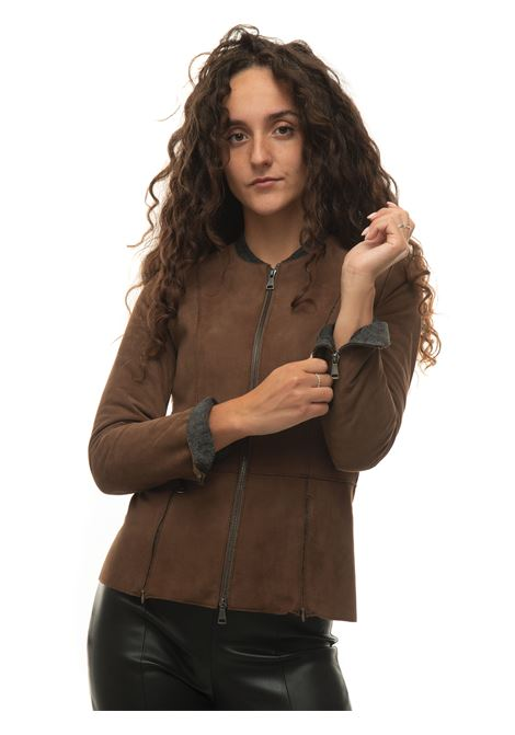 Pheony leather harrington jacket The Jack Leathers | -276790253 | PHEONYMARRONE