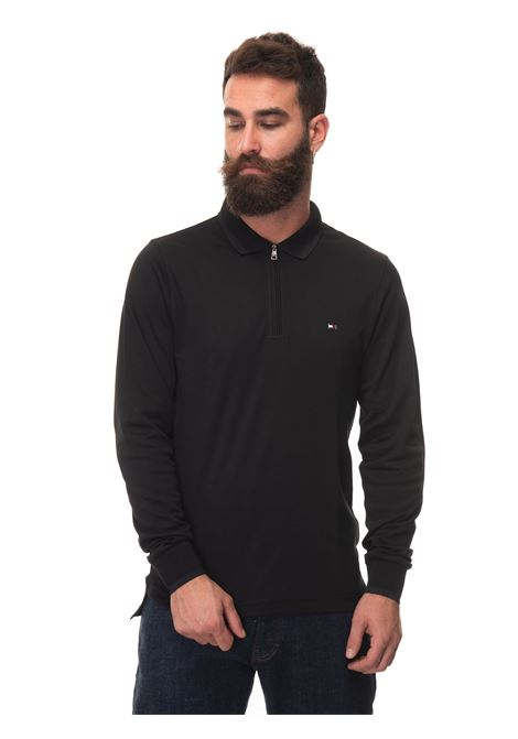 Long sleeve polo shirt with half zip Tommy Hilfiger | 2 | MW0MW20184BDS