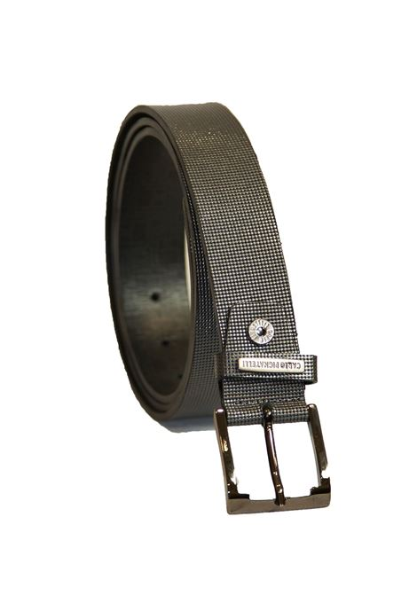 Classical belt in leather Carlo Pignatelli Classico | 20000041 | 28L8398PALLINOGRAPHITE