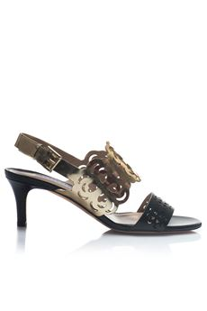 Sandals with strip Fratelli Rossetti | 20000009 | 65310NERO/ORO