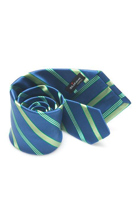 Bicolored Tie Kiton | 20000054 | 8,5-6D8204