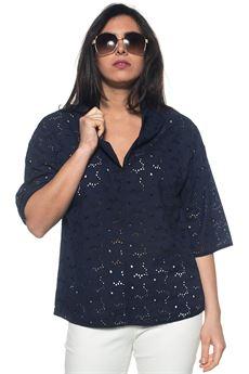 Camicia da donna lunga Blue Les Copains | 3 | 0J22000184