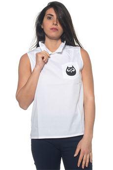 Camicia da donna in cotone Blue Les Copains | 6 | 0J91502100