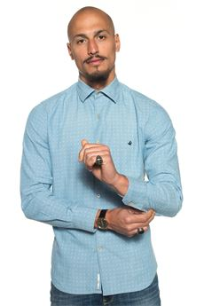 Camicia da uomo in jeans Brooksfield | 6 | 202G-T022V0031