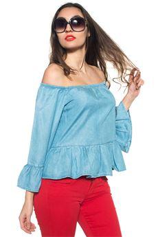 Camicia da donna in jeans Guess   6   W72H50-D2GZ0SSEW