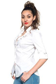 Camicia da donna in cotone Guess   6   W72H63-W7ZK0A000