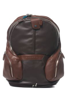 Leather rucksack Piquadro | 5032307 | CA3936OSTM