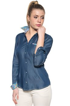 Camicia da donna in jeans US Polo Assn | 6 | 38743-51703177