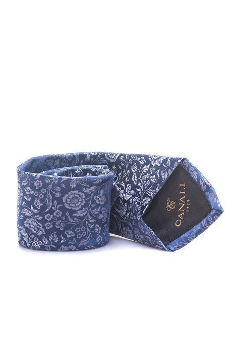 Tie flower print Canali | 20000054 | 18-HJ0159601