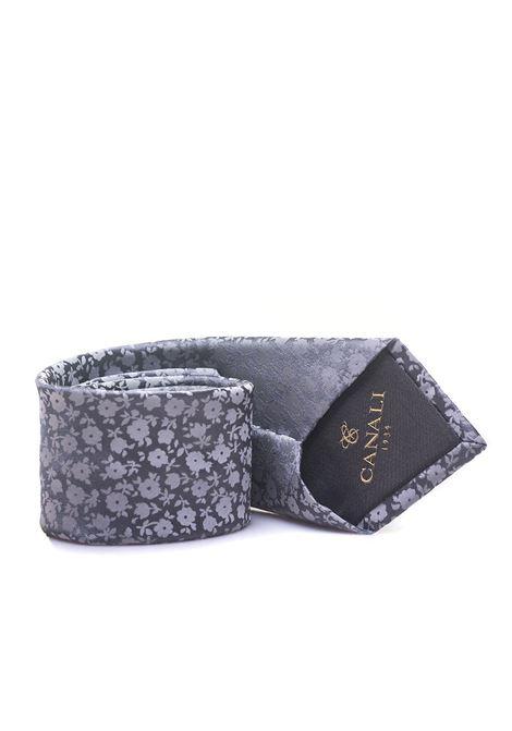 Flower print tie Canali | 20000054 | 18-HJ0159703