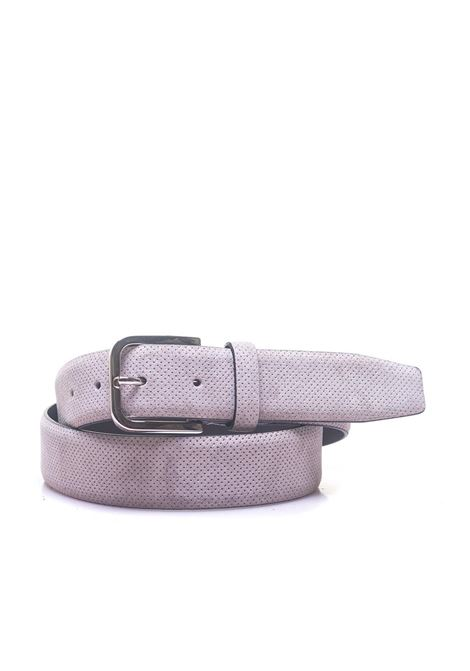 Leather belt Canali | 20000041 | 50-KB00171712