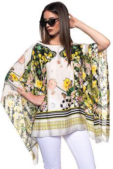 Flower fantasy Poncho Cavalli Class | 20000003 | B0IRA627-94654006