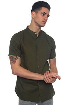 Camicia lino manica corta Emporio Armani | 6 | 3Z1C73-1NRAZ0544
