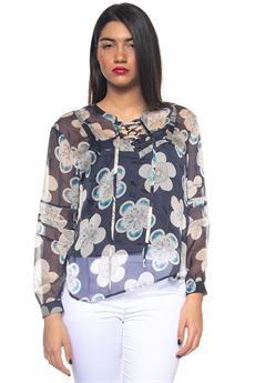 Wide silk tunic Emporio Armani | 2035781291 | 3Z2K67-2NRGZF904