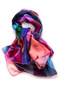 Foulard in silk Furla | -709280361 | ANGURIA TB34-BPVBLU PAVONE