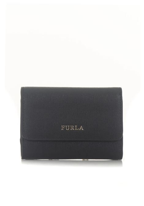 Babylon Zip leather wallet small size Furla | 63 | BABYLON PR76-B30ONYX